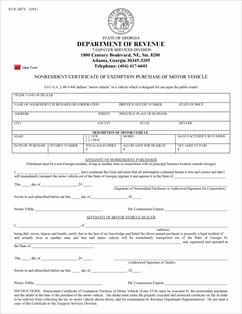 Form St 8 Fillable Motor Vehicle Non Resident Purchaser